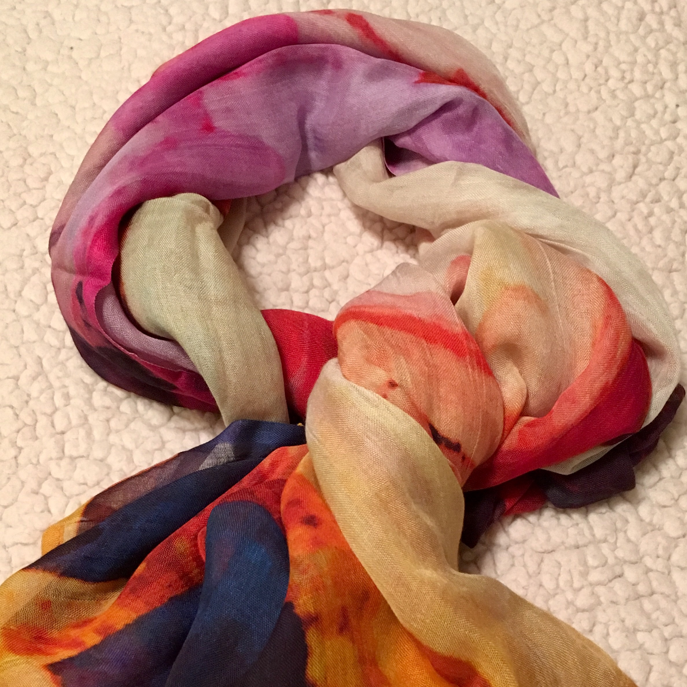 Art inspired scarves
